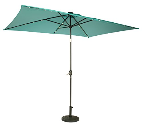 Trademark Innovations Rectangular Powered Umbrella