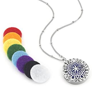 Flower Essential Aromatherapy Diffuser Necklace