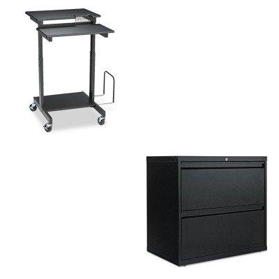 KITALELF3029BLBLT85052 - Value Kit - Balt Web A/V Stand-Up Workstation (BLT85052) and Best Two-Drawer Lateral File Cabinet (ALELF3029BL) by Balt (Image #1)