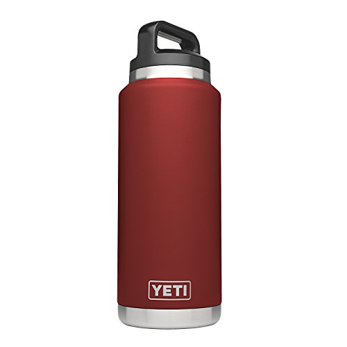 YETI Rambler 36oz Vacuum Insulated Stainless Steel Bottle with Cap (Stainless Steel) (Brick Red) ()
