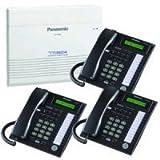 Panasonic KX-TA824 System plus (3) KX-T7731 Black