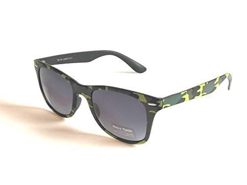 BRAND NEW CLASSIC STYLE SUNGLASSES GREEN OLIVE CAMO PRINT UNISEX MIRROR LENS RETRO ()