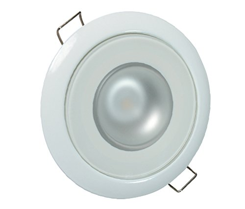 Lumitec 113128 Mirage LED Exterior or Interior Down Light, Flush Mount, White Bezel, White Dimming, Red Non-Dimming, Blue - Stores Place At Water Tower