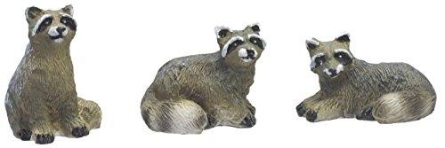 Mini Raccoons - Set of 3 (Raccoon Figurine)