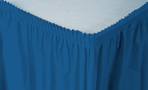 Table Skirts Plastic (Creative Converting Plastic Table Skirt, 14-Feet,)