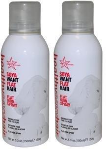 Healthy Sexy Hair Soya Want Flat Hair Hot Iron Spray  Each C
