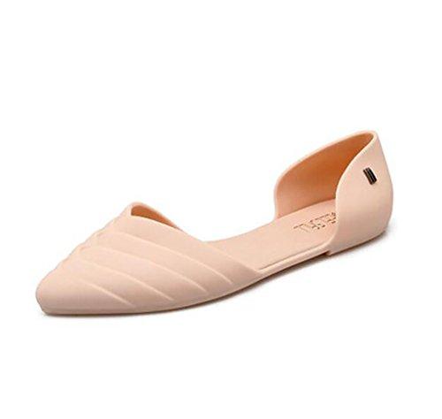 Zapatos de Mujer, Sandalias Planas, Botas Antideslizantes, Zapatos Romanos de gelatina de Playa Salvaje A