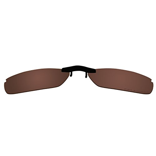 bdcab7bf0a7 Custom Polarized Clip on Sunglasses For Oakley WINGSPAN OX5040 53x17 5040  (Brown)