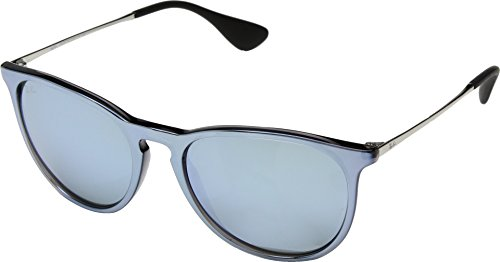 Ray-Ban Erika Non-Polarized Iridium Aviator Sunglasses, Grey Mirror Flash Grey, 54 - Sunglasses Contemporary