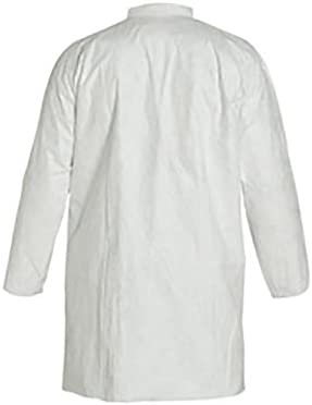 White 2X-Large Pack of 30 DuPont Tyvek 400 TY212S NAFTA Sourced Disposable Lab Coat with Open Cuff