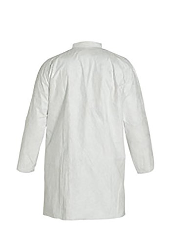 DuPont Tyvek 400 TY212S Disposable Lab Coat with Open Cuff, White, 2X-Large (Pack of 30) by DuPont (Image #3)