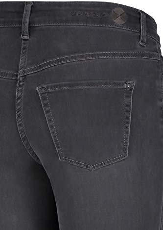 MAC Jeans Dream Chic Jean Slim, Gris (Dark Grey Used Wash D975), W24/L27 (Taille Fabricant: 32/27) Femme