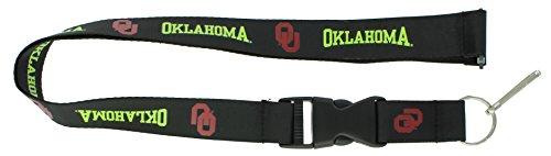 aminco NCAA Oklahoma Sooners Black Neon Wordmark Lanyard ()