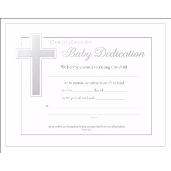 AmazonCom  Baby Dedication Certificates Isaiah  Pack Of