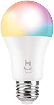 HI by Geonav Lâmpada Inteligente RGB+W, Branco Quente (Amarelo), LED 10W, Wi-Fi, E27, Controle no Aplicativo,