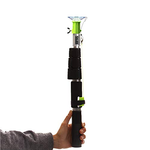STAUBER Best Bulb Changer with PowerLatch Extension Pole (Large Suction, 4 Feet)