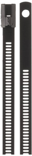 BAND-IT AE6159 316 Stainless Steel Multi Lok Cable Tie, 0.27'' Width, 24'' Length, 7.1'' Maximum Diameter, Bag of 100 by Band-It