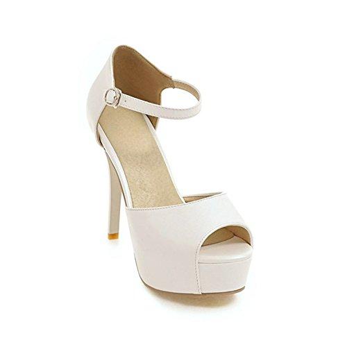 - Women's Simple High Heel Wedge Sandals Peep Toe Ankle Strap Platform Party Pumps Dress Shoes