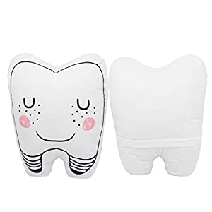 Vewye Baby Teeth Fairy Pillow Washable Children Baby Room Decoration Pillow Cute Plush White Pillow for Boy Gilrs