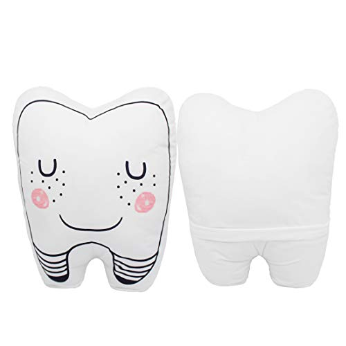 Baby Teeth Fairy Pillow Washable Children Baby Room Decoration Pillow Cute Plush White Pillow for Boy Gilrs