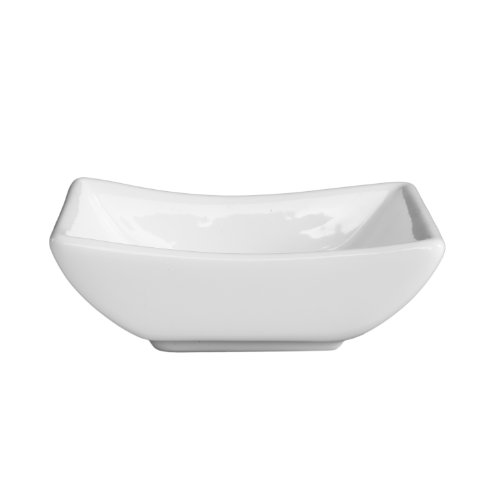 Fortessa Fortaluxe Vitrified China Dinnerware, Dipping Boat, 3.5-Inch, Set of 6