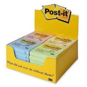Post-it Notes, 3''x3'', PDper Pack, Assorted Pastel by Post-it