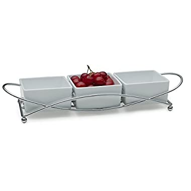 Towle Living Condiment Serving Set, White