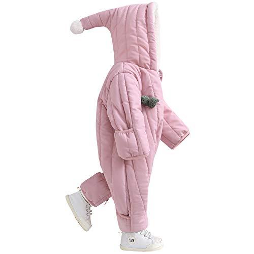 Baby Snowsuit Snuggly Bunting Girl Puffer Romper Fleece