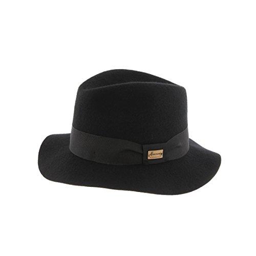 Cappello Fedora Nero mou Maxwell Herman - Misto nero 58 cm  Amazon ... 0274ff99435d