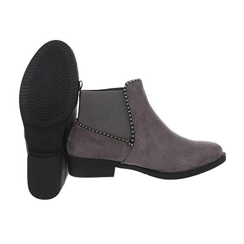 Femme Ital Boots Gris design Chelsea tqvSZX