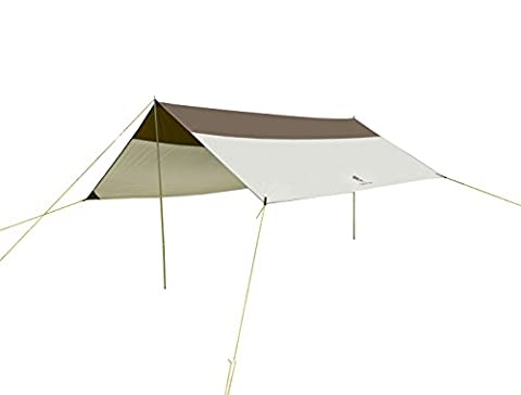 GEERTOP 5 - 8 Persons Waterproof Rain Fly Sun Shelter Tent Tarp 16'5'' x 14'5'' for Camping - Poles included - Grey - Guida Tascabile Sopravvivenza
