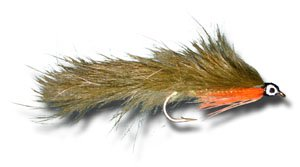 (Zonker - Olive Fly Fishing Fly - Size 8 - 12 Pack)
