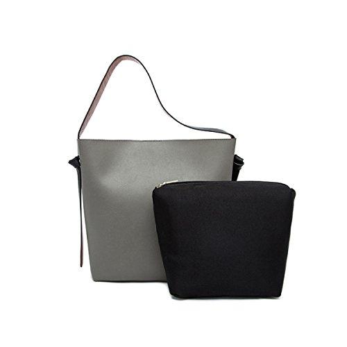 Le Donne Di Grande Capacità Secchiello In Pelle Tote Bag Borsa A Tracolla F