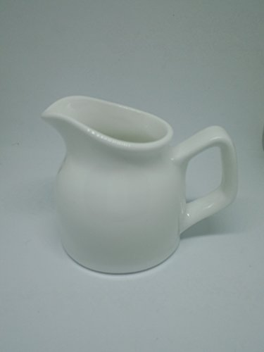 1 PCS X 2.5 Oz Cream Ceramic Jug / Pitcher Ceramic Milk Jug Pot Arrangement Vase White Espresso Coffee creamer pourer Kitchen For Home Decoration Coffer Latte Tea Coffee Good - Market Macys