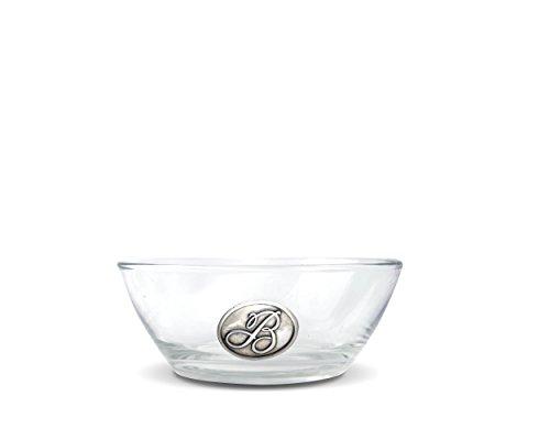 Vagabond House Script B Monogram Glass Dip Nut Bowl 6