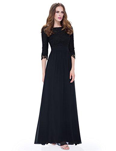 long black evening dress size 8 - 6