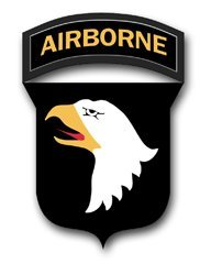 Vinyl USA US Army 101st Airborne Division Patch Decal Sticker 5.5