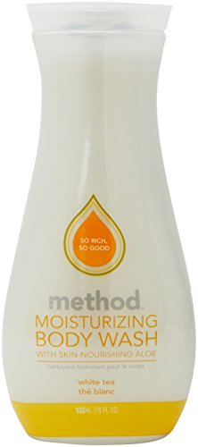 Method Pure Naked Moisturizing Body Wash, White Tea, 18 Fluid Ounce