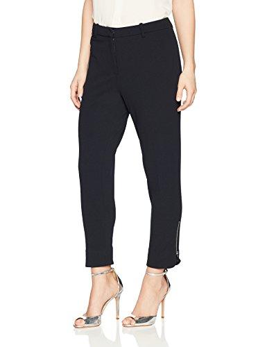 Ellen Tracy Women's Petite Zip Ankle Pant, Night Sky, PL