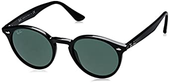 ray ban rb2180 round framed sunglasses tortoise  ray ban rb2180 49mm round sunglasses
