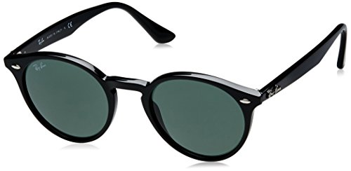 Ray-Ban INJECTED MAN SUNGLASS - BLACK Frame GREY GREEN Lenses 49mm - Rb2180