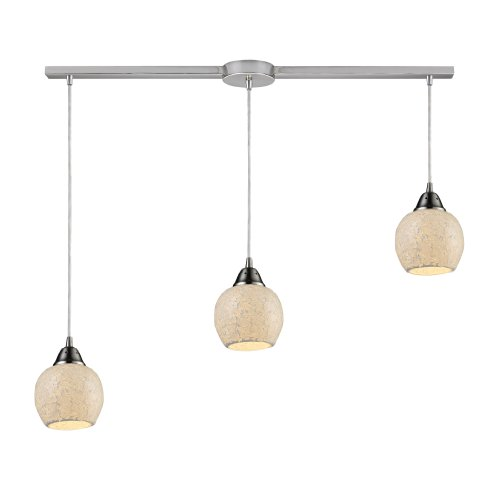 Elk 10208/3L-CLD Fission 3-Light Linear  Cloud Pendant In Satin (Cld Three Light)