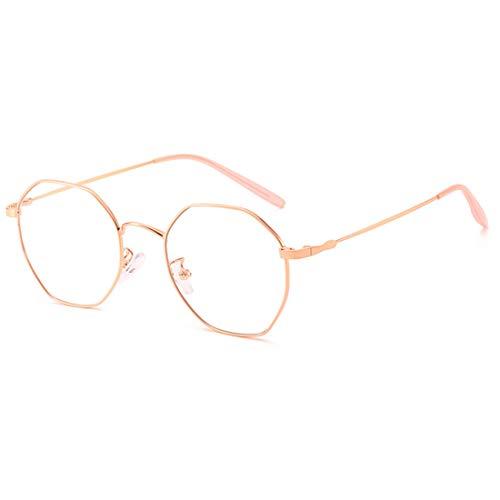Bleu Yefree De Fashion Or Lunettes Optiques Unisexe Rose Vue pq6FS7p