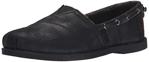 BOBS from Skechers Women's Chill Luxe Shoe, Black/Black, 7 M US