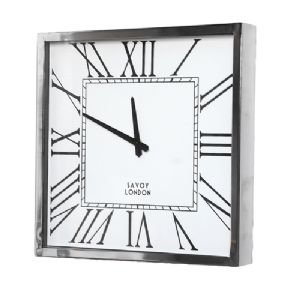 SQUARE SAVOY ART DECO WALL CLOCK
