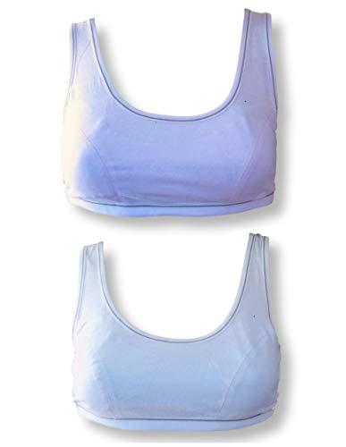 Teen Girls First Cotton Crop Top Bra Fit 9-16yrs. 2 Pack