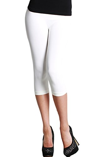 Nikibiki 3/4 Smooth Crop Leggings White OS