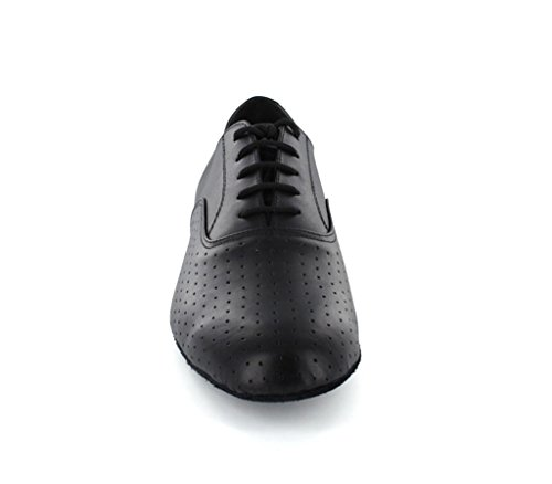Minitoo Tango Latino da Ballo Scarpe in Pelle da Uomo Stile Swing, Nero (Black), 40
