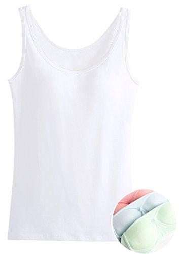 Alaroo Women\'s Cotton Tank Top With Built in Bra hot sale 3YgT9vkt