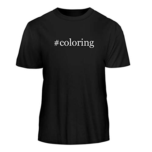 (Tracy Gifts #Coloring - Hashtag Nice Men's Short Sleeve T-Shirt, Black,)